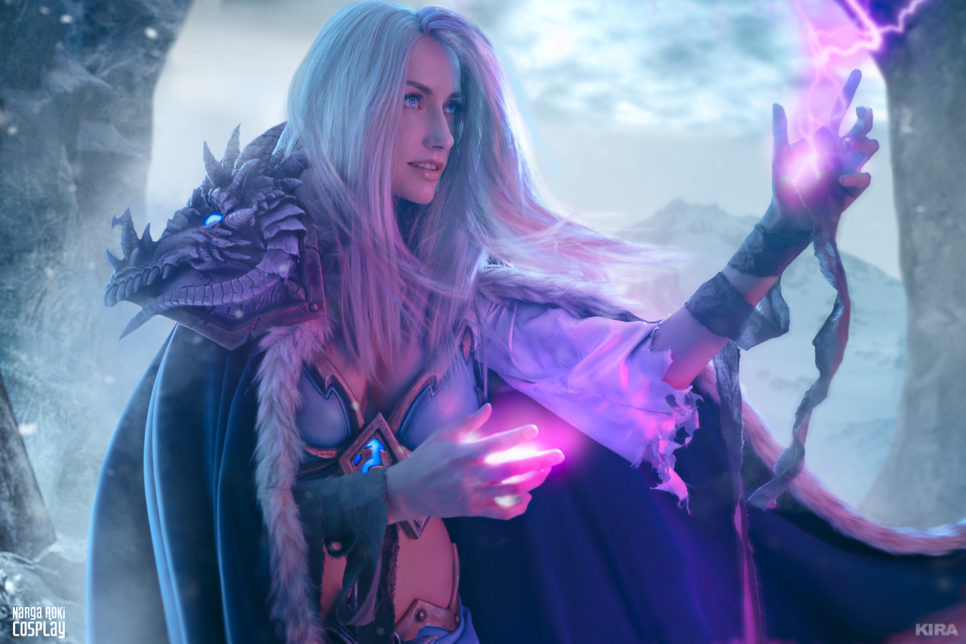 Frost Lich Jaina z Hearthstone:  Knights of the Frozen Throne