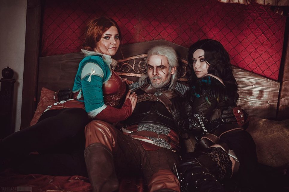 Yennefer, Triss, Geralt i Ciri z The Witcher - Cosplaytime pl