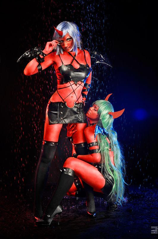 Scanty i Kneesocks z Panty & Stocking with Garterbelt