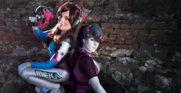 D.Va i Widowmaker z Overwatch