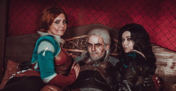 Yennefer, Triss, Geralt i Ciri z The Witcher