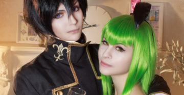 C.C. i Lelouch Lamperouge z Code Geass