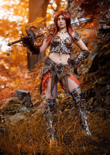 Female Barbarian z Diablo III