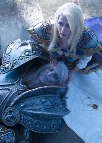 Arthas i Jaina z World of Warcraft